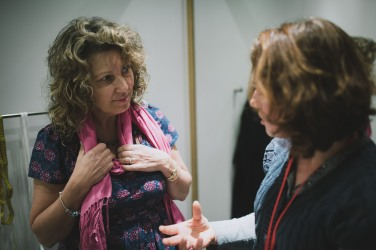 Suzanne with Dagmar, fashion co-ordinator